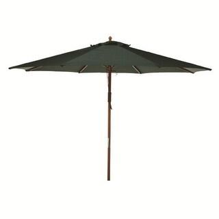 9' Hunter Green Wooden Outdoor Patio Umbrella