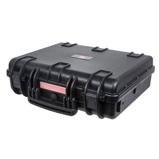 "Monoprice Weatherproof Hard Case with Customizable Foam, 19"" x 16"" x 6"""
