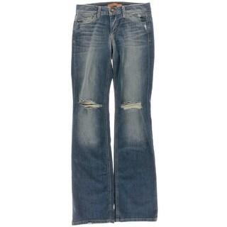 Joe's Womens Celeste Denim Destroyed Bootcut Jeans