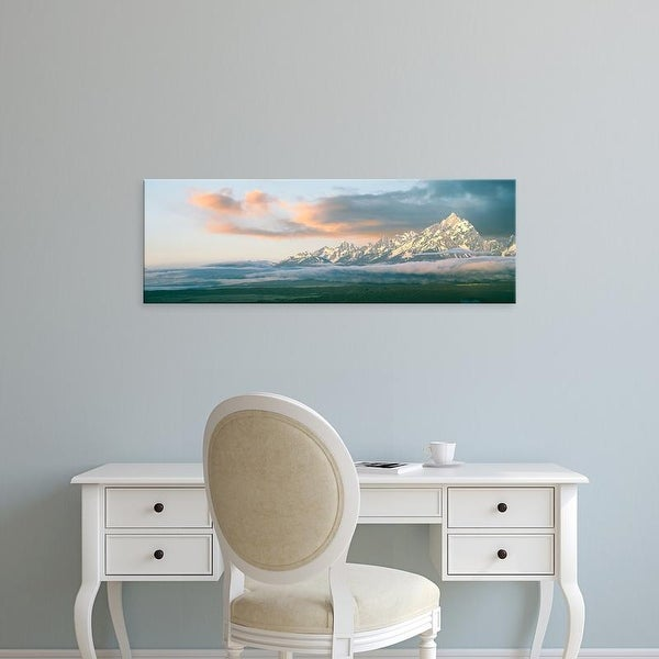 Easy Art Prints Panoramic Image 'Teton Range at sunrise, Grand Teton National Park, Teton County, Wyoming' Canvas Art