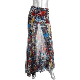 Alice + Olivia Womens Chiffon Printed Maxi Skirt - 0