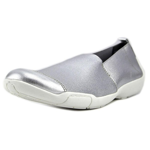 Ros Hommerson Caruso Women SS Round Toe Canvas Silver Loafer