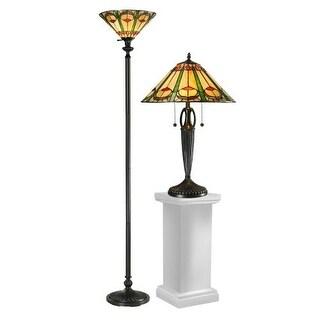 Dale Tiffany TC12340 Quill 3 Light Lamp Set