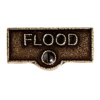 Switch Plate Tags FLOOD Name Signs Labels Cast Brass