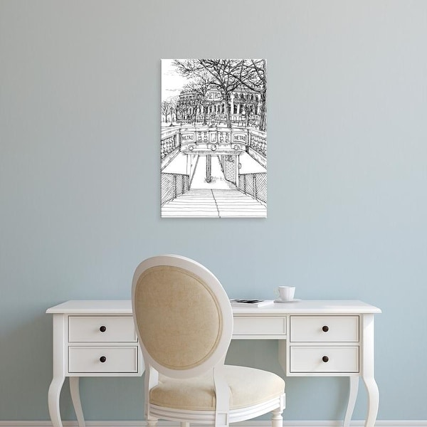 Easy Art Prints Melissa Wang's 'B&W City Scene VI' Premium Canvas Art