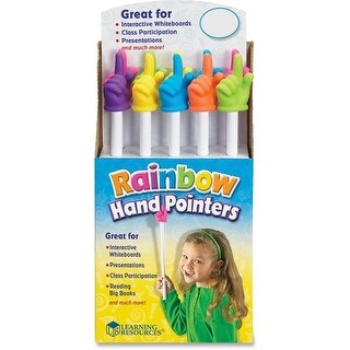 15 in. Rainbow Hand Pointers, Multi Color - 10 Piece