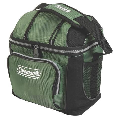 Coleman 9 can cooler green