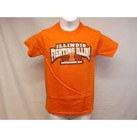 Illinois Fighting Illini Youth Sizes S-M-L-XL Orange Shirt