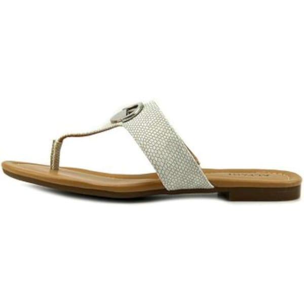 Alfani Womens holliss Split Toe Casual Slide Sandals