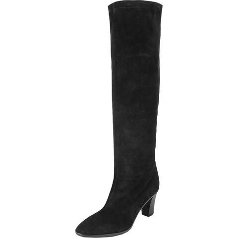 Vince Womens Casper Knee-High Boots Suede Pumps