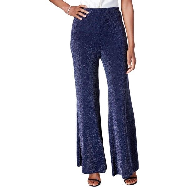 73c12e842a0a Shop MSK Womens Wide Leg Pants Metallic Sparkle Dot - Free Shipping On  Orders Over  45 - Overstock.com - 17813901