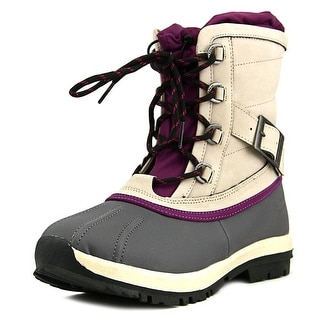 Bearpaw Nelly Women Round Toe Leather Gray Snow Boot