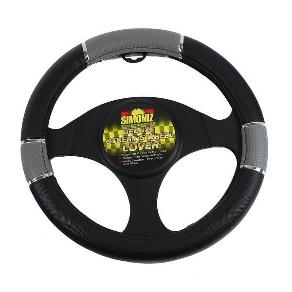 Simoniz Deluxe Steering Wheel Cover Tripple Grip, Grey