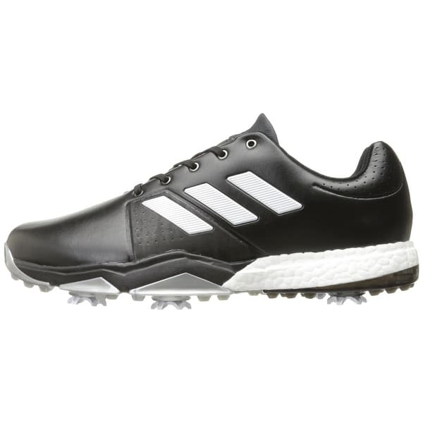 Adidas Men s Adipower Boost 3 Core Black White Silver Met. Golf Shoes  Q44757 ... 19b653476