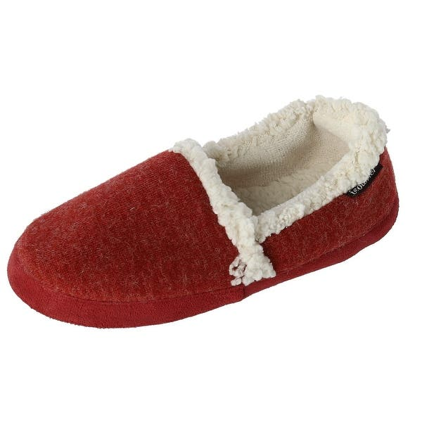 148610c0a Isotoner Women's Microsuede Heather Knit Marisol Closed Back Scuff Slipper