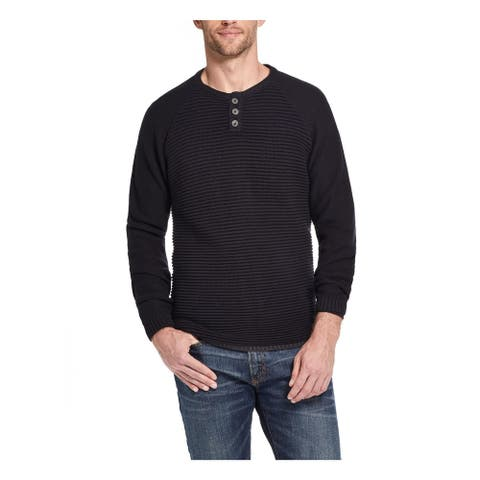 WEATHERPROOF VINTAGE Mens Black Patterned Long Sleeve Crew Neck Sweatshirt XXL