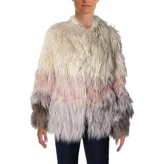 Vakko for INC Womens Faux Fur Ombre Jacket - XL