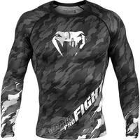 Venum Tecmo Long Sleeve MMA Compression Rashguard - Dark Gray