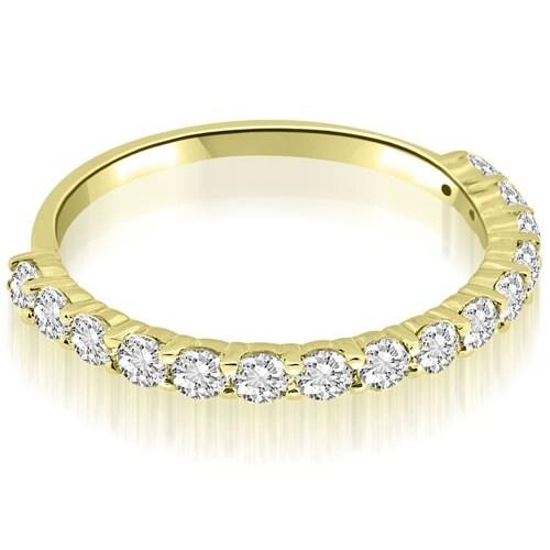 0.45 cttw. 14K Yellow Gold Round Cut Diamond Wedding Band
