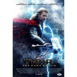 Chris Hemsworth Signed 12x18 Thor The Dark World Movie Poster Photo With Credits ()