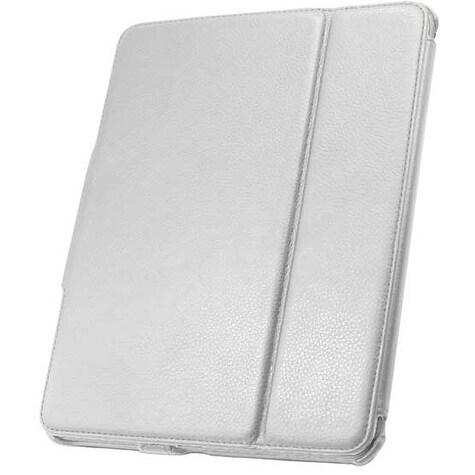 Leather Flip Book Case/Folio Case for Apple iPad (1st Generation) (White)