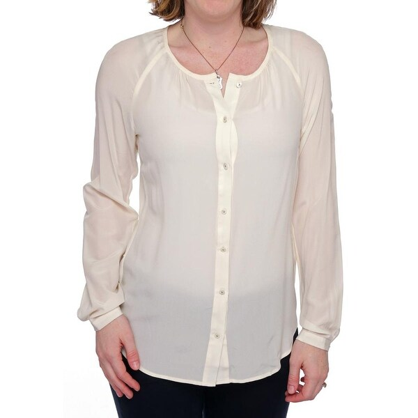 1f1878936a Shop L.K. Bennett TW Fiona Long Sleeve Scoop Neck Button Down Women Regular  - Free Shipping On Orders Over  45 - Overstock.com - 14293277