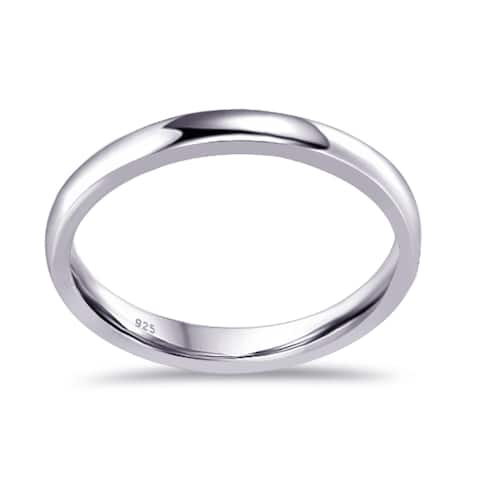 Plain Sterling Silver Beautiful Wedding Ring By Orchid Jewelry