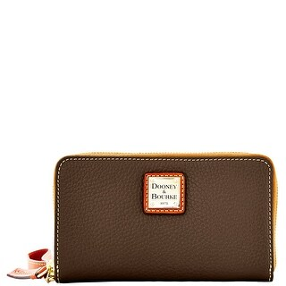 Dooney & Bourke Pebble Grain Zip Around Phone Wristlet (Introduced by Dooney & Bourke at $118 in Jun 2014) - brown tmoro
