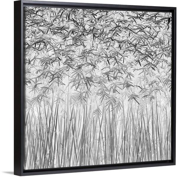 """""""Parallelism"""" Black Float Frame Canvas Art"""
