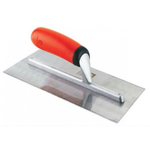 "Roberts 10-823 Cushion Handle Trowel, 1/16"" with 10° Blade Angle"
