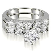 2.15 CT.TW Round Cut Diamond Bridal Set - White H-I