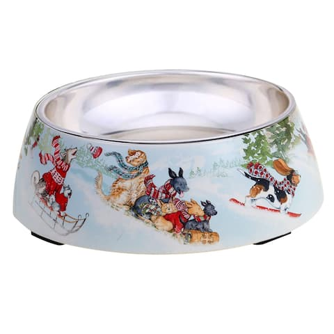 Certified International Special Delivery Bamboo Fiber 24 oz. Pet Bowl