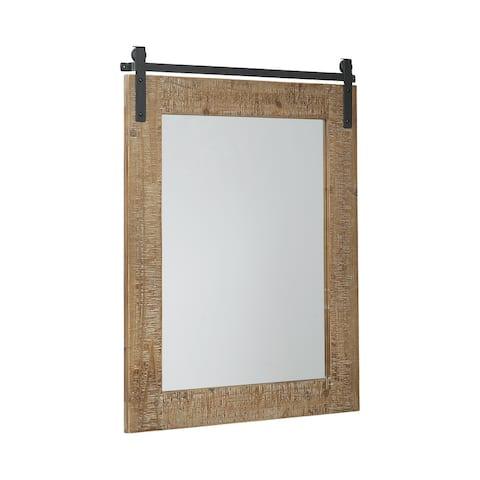 """Lanie Antique Brown Accent Mirror - 24""""W x 1""""D x 32""""H"""