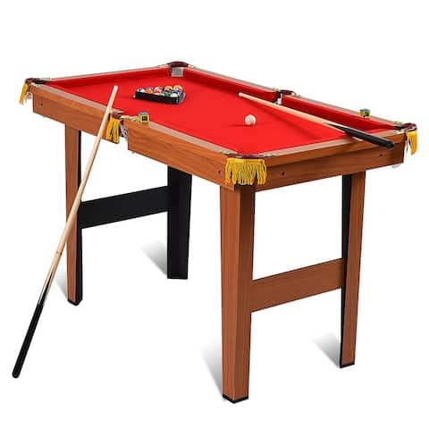 Costway 48'' Mini Table Top Pool Table Game Billiard Set Cues Balls