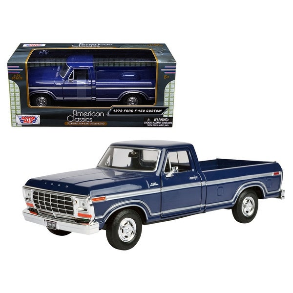 Shop  Ford F  Pickup Truck Blue  Cast Model Car By Motormax Free Shipping On Orders Over