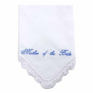 Mother of the Bride or Groom Crocheted White Hanky
