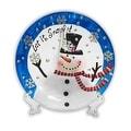 Holiday Decorative Snowman Plate - Thumbnail 0