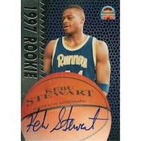 Kebu Stewart Autographed Basketball Card Cal State 1997 Score Boar