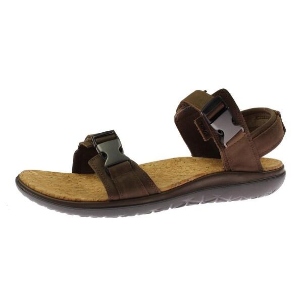 f7f9ffd84bf7c9 Teva Mens Terra Float Universal Lux Flat Sandals Leather Lightweight