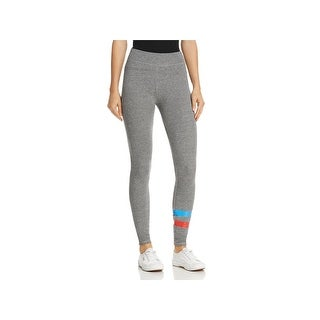 Sundry Womens Athletic Leggings Metallic Yoga