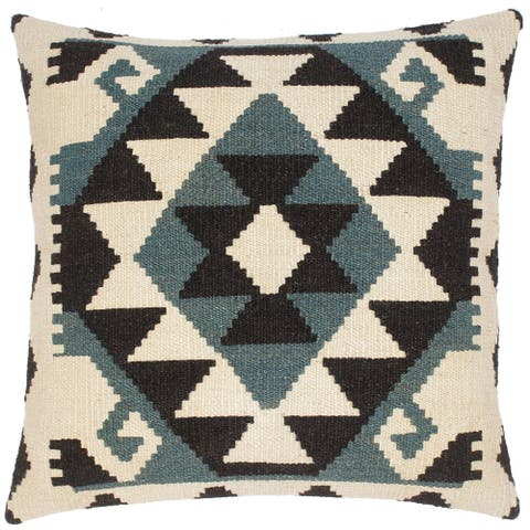 Bauhaus Kenneth Hand-Woven Turkish Kilim Throw Pillow 20 in. x 20 in.
