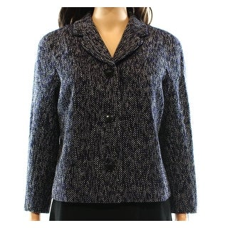 Tommy Hilfiger NEW Blue Women's Size 16 Textured Marled Knit Coat