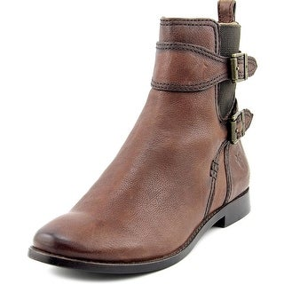 Frye Anna Gore Short Women Round Toe Leather Ankle Boot