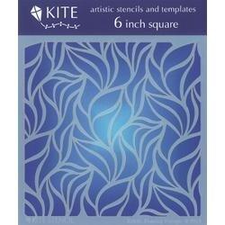 "Flaming Foliage - Judikins Kite Stencil 6"" Square"