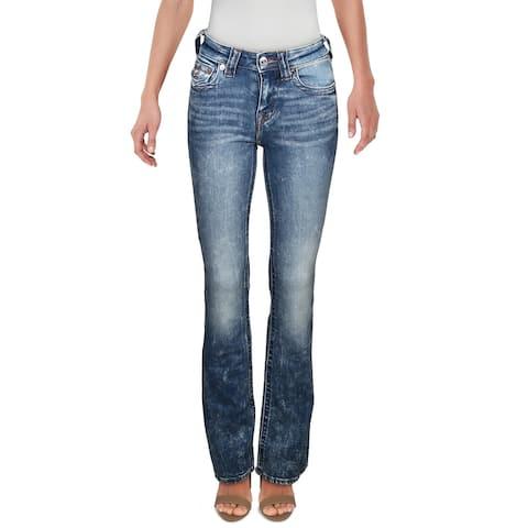 True Religion Womens zev Bootcut Jeans Medium Wash High Rise - Blue - 24