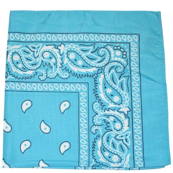 """Wholesale Lot 6 Aqua Blue Plain Solid Color 100/% Cotton 22/""""x22/"""" Bandana"""