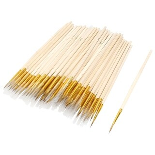 Unique Bargains Calligraphers Faux Fur Head Small Chinese Calligraphy Brush 100 Pcs