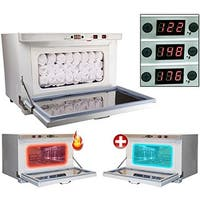 LCL Beauty Variable Temperature 2-in-1 Hot Towel Cabinet and Ultraviolet Sterilizer with Facial Towels