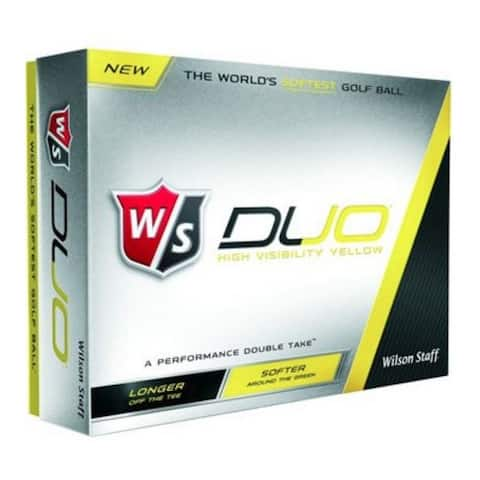 Wilson Staff Duo Soft Yellow Distance Golf Balls 4 Sleeves 12-Pack WGWP35900 - One Size