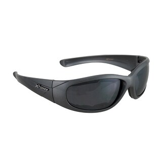 Padded Biker Sunglasses Gray Frames Smoke Lenses